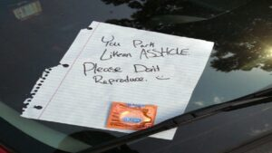someone hit my parked car and left a note